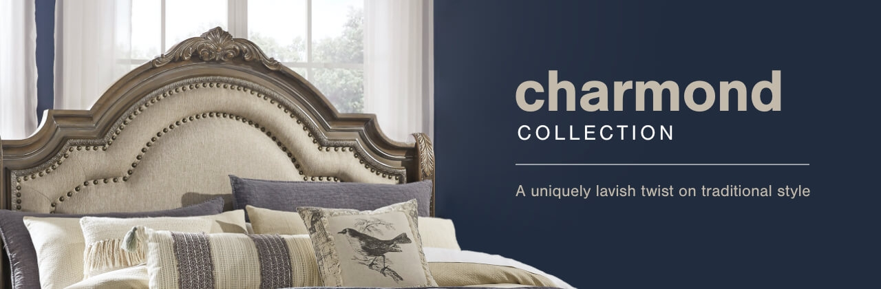 A Plus Content -  http://s7d3.scene7.com/is/image/AshleyFurniture/CollectionA%2BBanner%5FCharmond%5FBedroom?scl=1