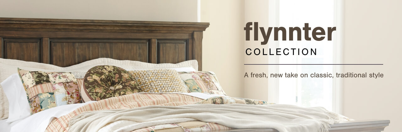 A Plus Content -  http://s7d3.scene7.com/is/image/AshleyFurniture/CollectionA%2BBanner%5FFlynnter%5FBedroom?scl=1