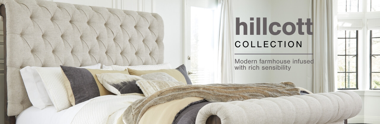 A Plus Content -  http://s7d3.scene7.com/is/image/AshleyFurniture/CollectionA%2BBanner%5FHillcott%5FBedroom?scl=1