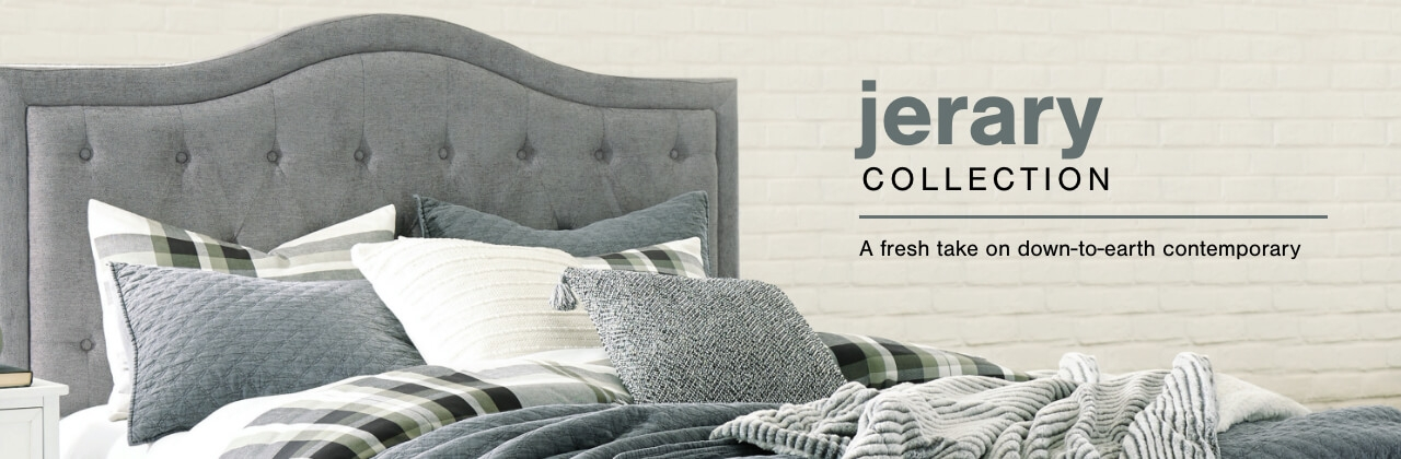 A Plus Content -  http://s7d3.scene7.com/is/image/AshleyFurniture/CollectionA%2BBanner%5FJerary%5FBedroom?scl=1