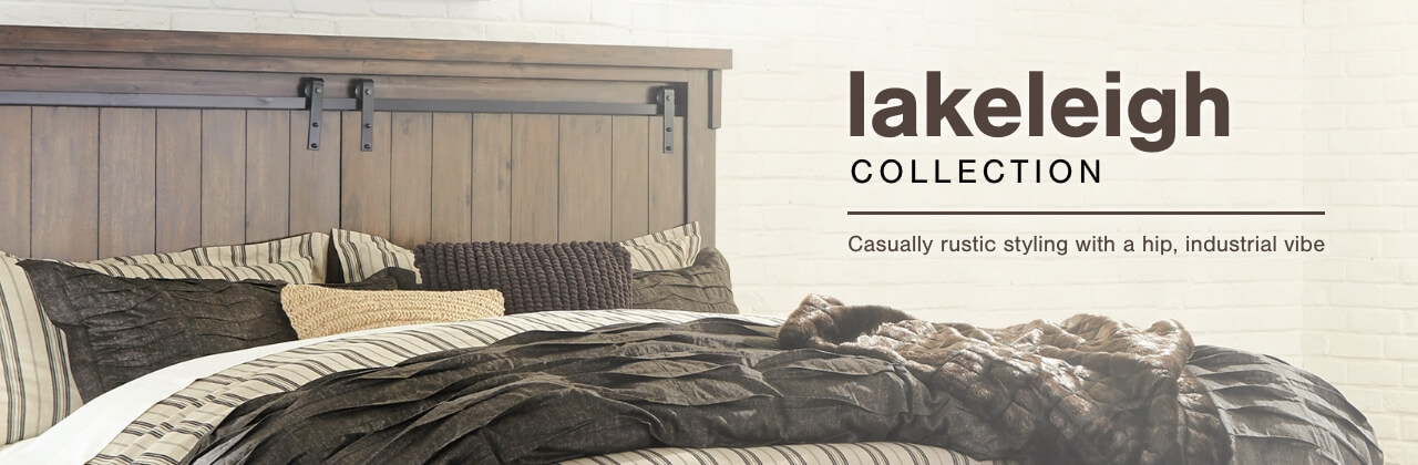 A Plus Content -  http://s7d3.scene7.com/is/image/AshleyFurniture/CollectionA%2BBanner%5FLakeleigh%5FBedroom?scl=1