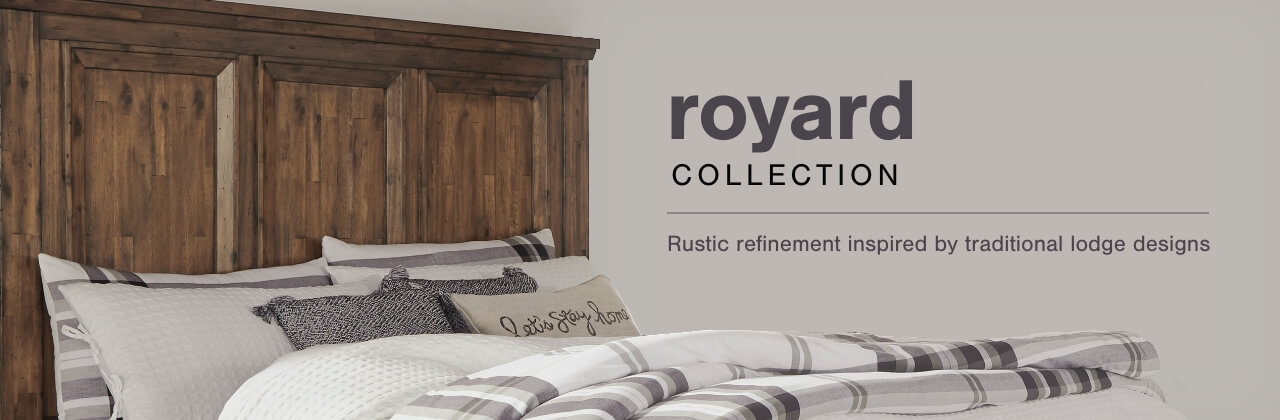 A Plus Content -  http://s7d3.scene7.com/is/image/AshleyFurniture/CollectionA%2BBanner%5FRoyard%5FBedroom?scl=1