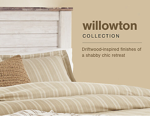 A Plus Content -  http://s7d3.scene7.com/is/image/AshleyFurniture/CollectionA%2BBanner%5FWillowton%5FBedroom%5FMB?$A%2DPlus%2DContent%2DMobile%2D480%2D370$