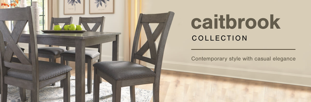 A Plus Content -  http://s7d3.scene7.com/is/image/AshleyFurniture/CollectionABanner%5FCaitbrook%5FDining?scl=1