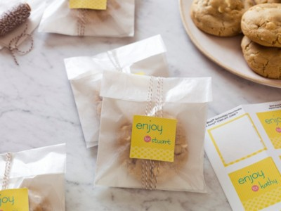 DIY Cookie Bag Label