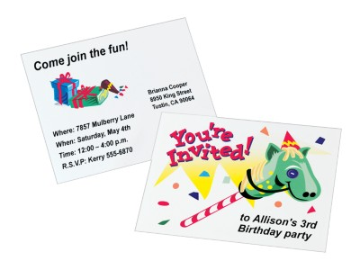 Birthday Card or Invite with Hobby Horse