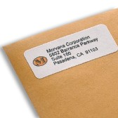 Logo on return address labels