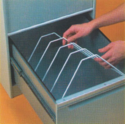 Insert your file rack in the drawer