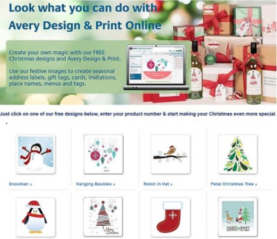 Avery Design and Print Online Christmas edition