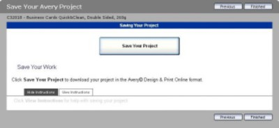 Save your project