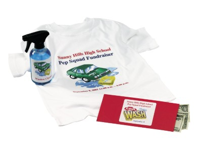 Carwash T-Shirt and Labeled Spray