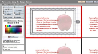 Step 5: Customize the Back Side of Your Business Card