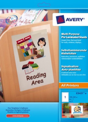 Avery Pre Laminated Sheets - E3421