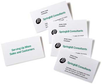 Business cards with impact