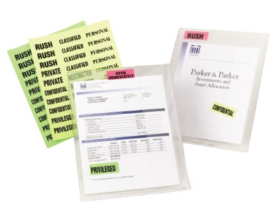 Fluorescent Message Labels on Documents