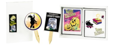 Halloween Stickers and Yard Markers