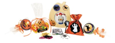 Decorated Halloween Goodie Bags