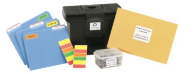 I.D. Labels on Folders & Storage Boxes
