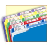 Filing System Using Extra Large Filing Labels