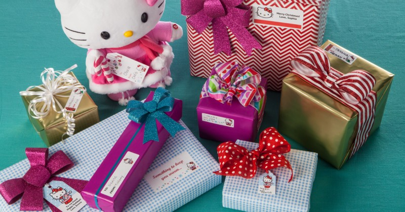Design your own holiday labels and cards, party decorations, and more with Hello Kitty design templates.