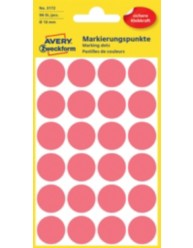 Coloured Marking Dots, bright red, 18 x 18 mm | 3172 | Avery Zweckform