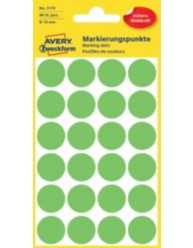 Coloured Marking Dots, bright green, 18 x 18 mm | 3174 | Avery Zweckform