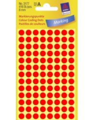 Coloured Marking Dots, bright red, 8 x 8 mm | 3177 | Avery Zweckform