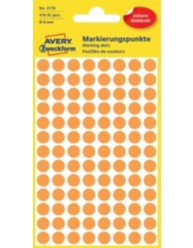 Coloured Marking Dots, bright orange, 8 x 8 mm | 3178 | Avery Zweckform