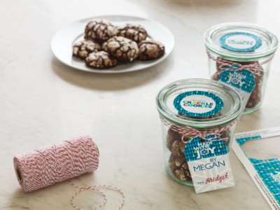 Homemade cookies in containers