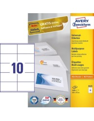 Etiquettes universelles 105 0 x 57 0 mm 3425 avery for Logiciel merchandising gratuit