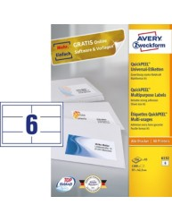 All-purpose labels, 97 x 42.3 mm | 6132 | Avery Zweckform