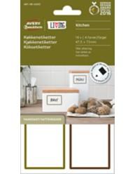 Køkkenetiketter - Aftagelige, vaskbare, egnet til håndskrift