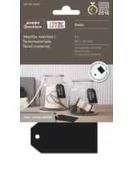 Manillamærker i tavlemateriale - Kan påskrives med kridt, inkl. Snor
