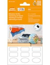 Etiketter til mærkning af tekstil - Selvklæbende, kan tåle at komme i vaskemaskinen og tørretumbleren