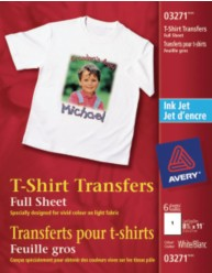 White T-shirt Transfers - 6pk+3 extra bonus sheets