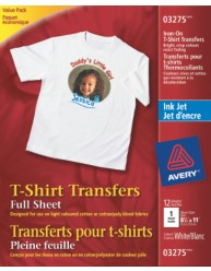 Durable Light T-shirt transfers, 12pk