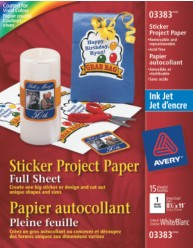 Sticker Project Paper - 15 sheets