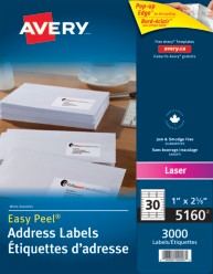 Easy Peel White Laser 30-up 100sheets