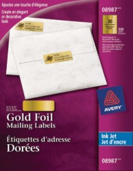 avery 8987 template - mailing labels avery gold foil mailing labels for inkjet