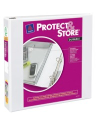 "Avery® Durable View Protect & Store™ Binder with 1-1/2"" Slant Rings 23001, Packaging Image"
