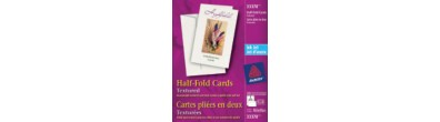 Avery® Textured Half-Fold Greeting Cards for Inkjet Printers 33378, 5-1/2