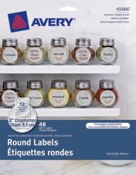 Avery® Embossed Round Labels 41466, Packaging Image