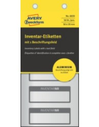 Etichette per inventario ultra resistenti in alluminio prestampate