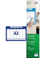 Write & Wipe Signs, A3, weekly calendar