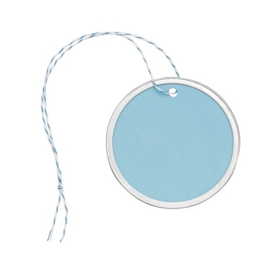 "MSHO Metal Rim Tags, Blue, Large, 2-1/4"" Diameter, 5/pk 11859"