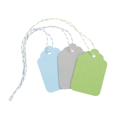 "MSHO Paper Tags, Assorted Colors, Medium, 2-5/32""x1-7/16"", 12/pk 11862"