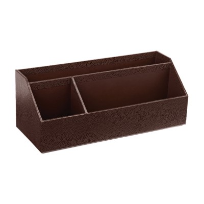 MSHO Shagreen Desktop Organizer, Brown 13222