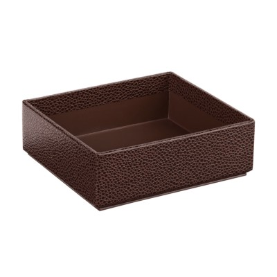"MSHO Small Cardboard Box with No Lid, Brown, 4-3/4"" W x 4-1/4"" D x 1-5/8"" H 13257"