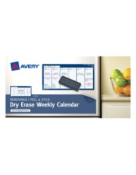 Avery® Dry Erase Weekly Calendar 22212, Packaging IMage