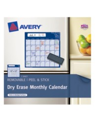 Avery® Dry Erase Monthly Calendar 22213, Packaging Image